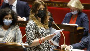 La ministredéléguée chargée de la CitoyennetéMarlène Schiappa à l'Assemblée nationale à Paris le 8 juin 2021. (LUDOVIC MARIN / AFP)
