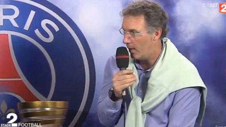 Laurent Blanc (PSG), en duplex pendant Stade 2