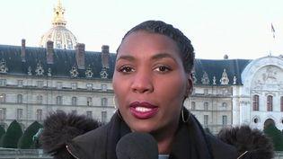 Le montant de la cagnotte aux forces de l'ordre remis aux Invalides, à Paris. (France 2)