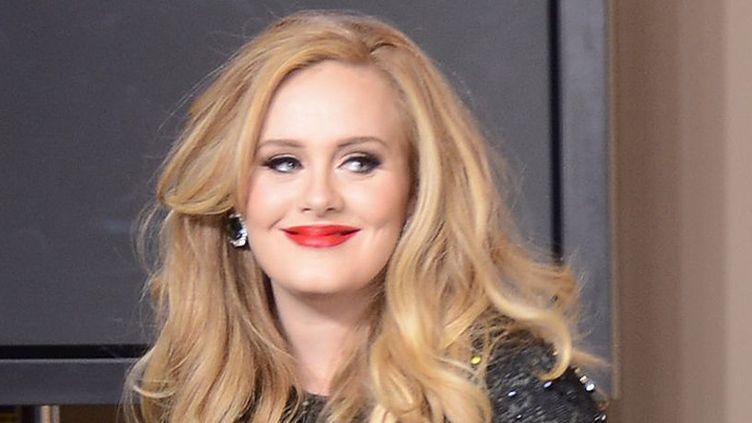 """Adele obtient l'Oscar de la meilleure chanson thème pour """"Skyfall"""" en 2013.  (Jason Merritt / Getty Images North America / AFP)"""