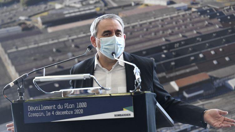 Xavier Betrand en décembre 2020. (FRANCOIS LO PRESTI / AFP)