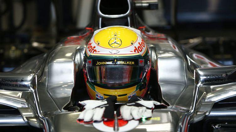 En remportant tranquillement le Grand Prix du Canada de F1, Lewis Hamilton prend la tête du championnat du Monde. Le Français Romain Grosjean se classe 2e, son meilleur résultat en carrière. (HOCH ZWEI / MAXPPP)