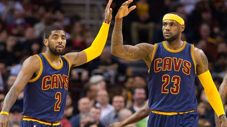 Le duo vedette de Cleveland, Kyrie Irving et LeBron James