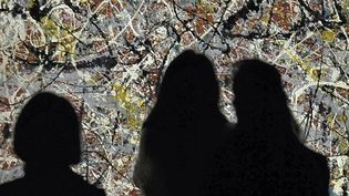 """Mural on Indian Red Ground"",Jackson Pollock au musée d'art moderne de Tokyo, lors de l'exposition rétrospective de 2012  (MASAAKI NAKAJIMA / YOMIURI / THE YOMIURI SHIMBUN / AFP  )"