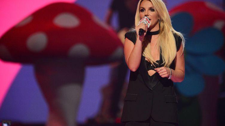 La chanteuse Britney Spears sur la scène du IHeartRadio Music Festival, le 21 septembre 2013 à Las Vegas (Etats-Unis). (AL POWERS / AP / SIPA)