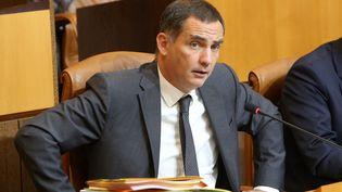 Gilles Simeoni, à l'Assemblée de Corse, le 26 octobre 2017. (MAXPPP)