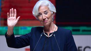 Christine Lagarde, présidente du Fonds monétaire international, à Lima (pérou), le 18 novembre 2016. (MARTIN BERNETTI / AFP)