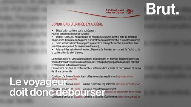 Bloqués depuis des mois en France, ils ne pouvaient pas rentrer en Algérie. Alors que les frontières rouvrent partiellement, la situation reste compliquée pour ces ressortissants algériens. Pour Brut, ils témoignent.