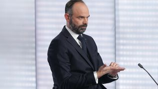 Le Premier ministre Edouard Philippe, le 12 janvier 2020. (GEOFFROY VAN DER HASSELT / AFP)