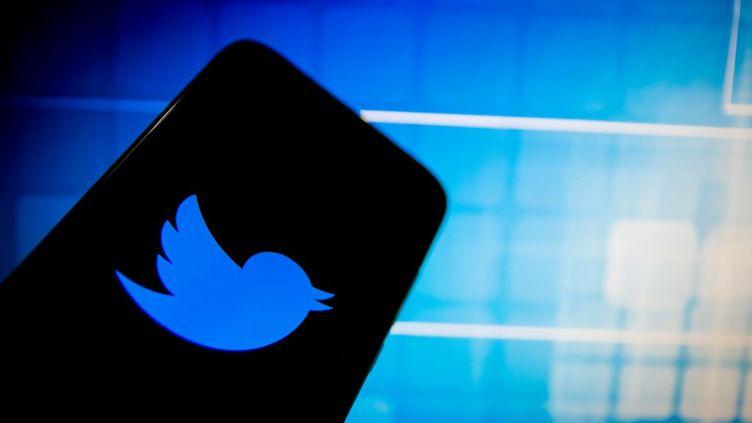 Le logo de Twitter sur un téléphone, à Athènes, en Grèce, le 14 décembre 2020. (NIKOLAS KOKOVLIS / NURPHOTO / AFP)