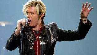 David Bowie en concert à Montréal (Canada), le 13 décembre 2003. (SHAUN BEST / REUTERS)