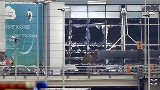 L'aéroport de Zaventem, à Bruxelles, lors de l'attentat du 22 mars 2016. (FRANCOIS LENOIR / REUTERS)