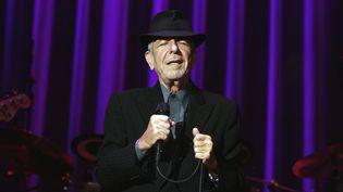 Le musicien Leonard Cohen en concert en 2008  (LENNART REHNMAN / GT / TT NYHETSBYRÅN / TT News Agency/AFP)
