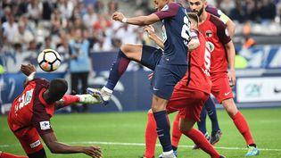 L'attaquant du PSG Kylian Mbappé, lors de la finale de la Coupe de France opposant le club parisien aux Herbiers, le 8 mai 2018 au Stade de France à Saint-Denis (Seine-Saint-Denis). (FRANCK FIFE / AFP)