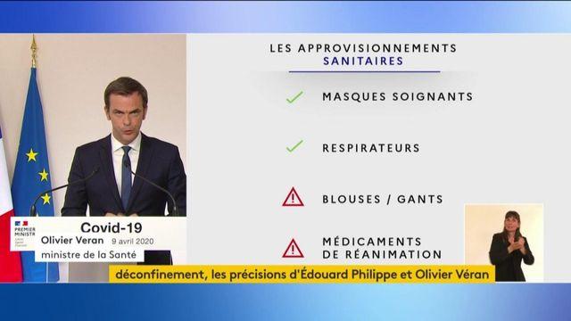 Olivier Véran fait le point sur les stocks de matériel de production et de médicaments