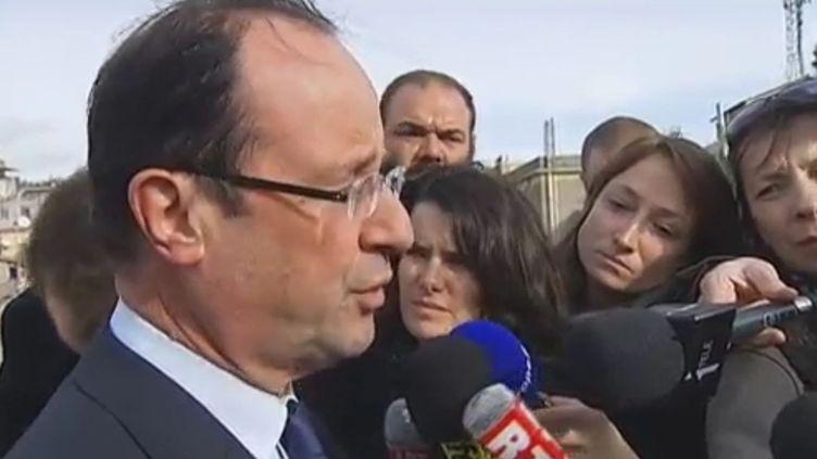 François Hollande à Rome (Italie), le 13 janvier 2012. (FTVi)