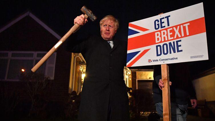 Le Premier ministre britannique Boris Johnson, le 11 décembre 2019 à Londres (Royaume-Uni). (BEN STANSALL / AFP)
