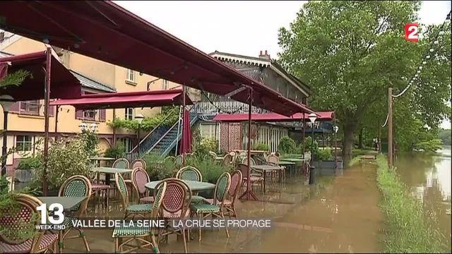 Vallée de la Seine : la crue se propage