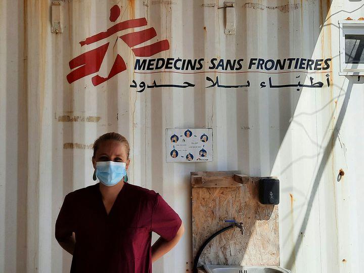 Julia Falkner, sage-femme pour MSF à Lesbos (Grèce). (BENJAMIN  ILLY / RADIO FRANCE)