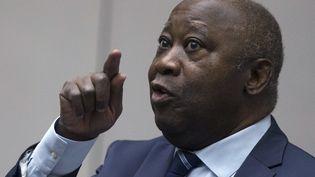 L'ancien président ivoirien Laurent Gbagbo, le 15 janvier 2019, lors de son audience devant la Cour pénale internationale (CPI) à La Haye (Hollande). (PETER DEJONG / ANP)
