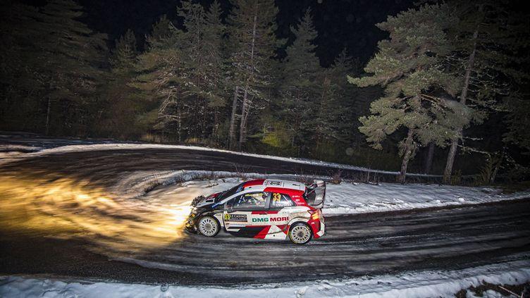 Elfyn Evans (Toyota) mène le Rallye de Monte Carlo après la deuxième journée, vendredi 22 janvier (GREGORY LENORMAND / DPPI)