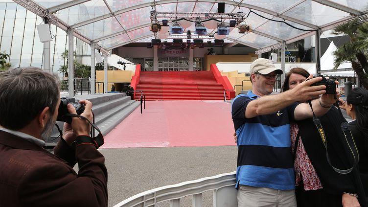 Le 15 mai 2013, devant le palais des Festivals. (MAXPPP)