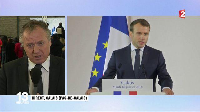Calais : Emmanuel Macron s'adresse aux forces de l'ordre