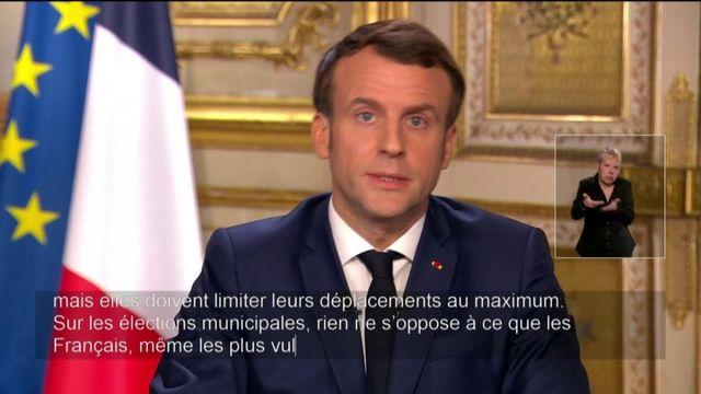 Coronavirus : Emmanuel Macron annonce le maintien des élections municipales