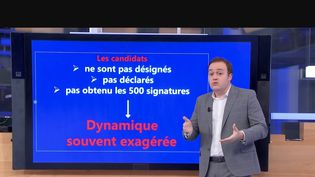 À six mois du premier tour de l'élection présidentielle qui aura lieu en 2022, les sondages se multiplient. Julien Gal, journaliste à France Télévisions, nous parle de la fiabilité de ces sondages. (CAPTURE ECRAN / FRANCEINFO)