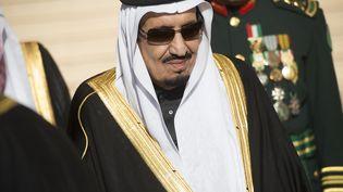 Le nouveau roi d'Arabie saoudite,Salmane Ben Abdel Aziz Al-Saoud,à Riyad, le 27 janvier 2015. (SAUL LOEB / AFP)