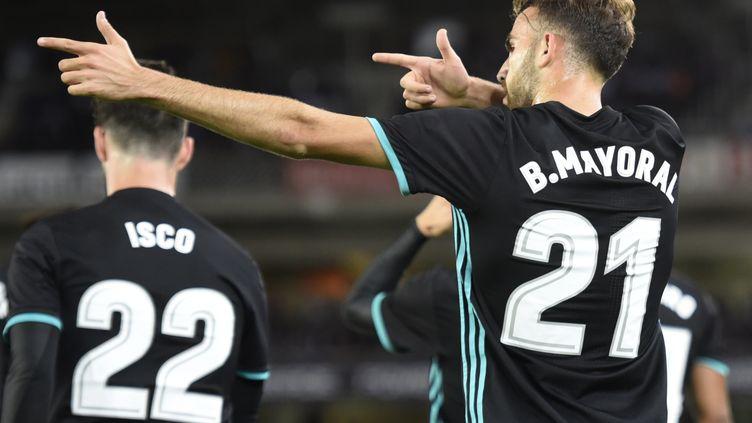 Borja Mayoral buteur avec le Real Madrid sur le terrain de la Real Sociedad (ANDER GILLENEA / AFP)