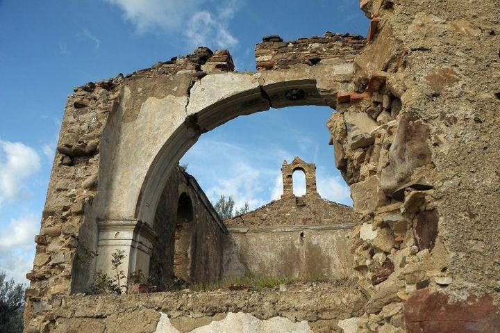 Eglise de la Madonna del Carmine à Montegiordano en Italie (avril 2013)  (ALFONSO DI VINCENZO / AFP)