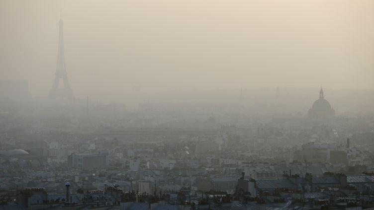 Paris sous un nuage de pollution, le 11 mars 2014. (PATRICK KOVARIK / AFP)