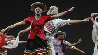 Danse traditionnelle au festival 2015 de Confolens (14 août 2015)  (Patrick Lavaud / PhotoPQR / La Nouvelle République)