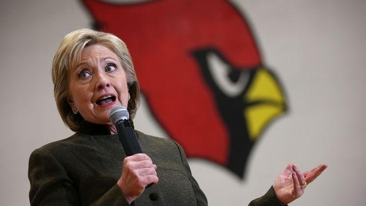 Hillary Clinton, candidate à la primaire du parti démocrate en vue de l'élection présidentielle de 2018 aux Etats-Unis, à Newton dans l'Iowa, jeudi 28 janvier 2016. (JUSTIN SULLIVAN / GETTY IMAGES NORTH AMERICA / AFP)