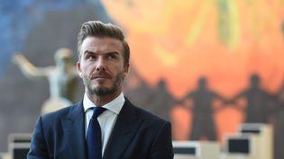 David Beckham lors de l'assemblée générale des Nations-Unies, à New-York, le 24 septembre 2015. (TIMOTHY A. CLARY / AFP)