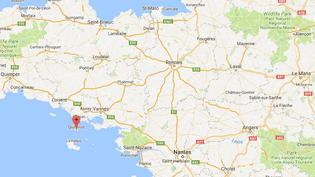 L'explosion s'est produite vers 2h30 du matin dans le commerce de la Brûlerie de la Presqu'île, à quiberon (Morbihan), le 9 juillet 2018. (GOOGLE MAPS / FRANCEINFO)