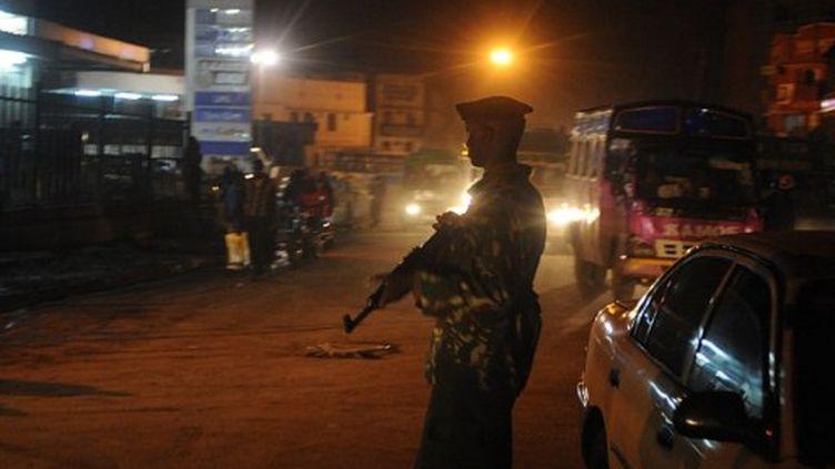 Nairobi, après les attaques à la grenade qui ont fait un mort et 29 blessés lundi 24 octobre. (SIMON MAINA / AFP)