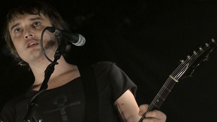 Pete Doherty sur scène à Berlin en 2014.  (Britta Pedersen / DPA)