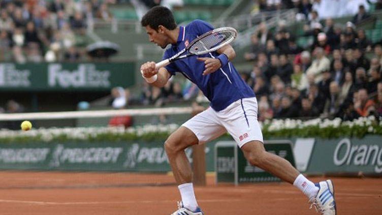 Novak Djokovic tranquille lors de son deuxième tour