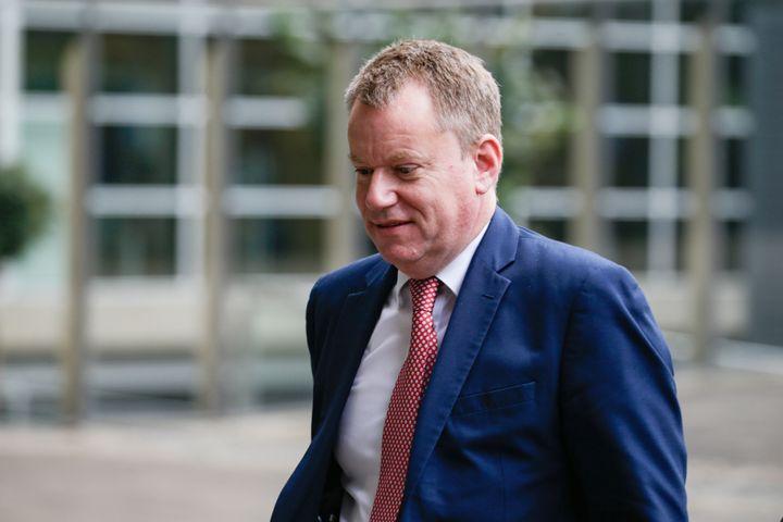 Le chef des négociateurs britanniques, David Frost, arrive à Bruxelles (Belgique), le 8 octobre 2019. (ARIS OIKONOMOU / AFP)