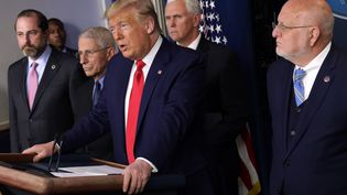 Donald Trump, le 29 février 2020 à la Maison Blanche. (ALEX WONG / GETTY IMAGES NORTH AMERICA / AFP)
