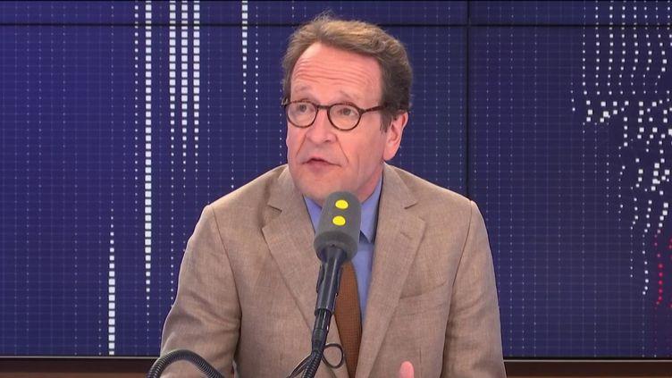 Gilles Le Gendre, président du groupe La République en marche à l'Assemblée nationale, était l'invité de franceinfo mercredi 28 août. (FRANCEINFO / RADIOFRANCE)