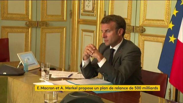 Coronavirus : Emmanuel Macron et Angela Merkel proposent un plan de relance de 500 milliards