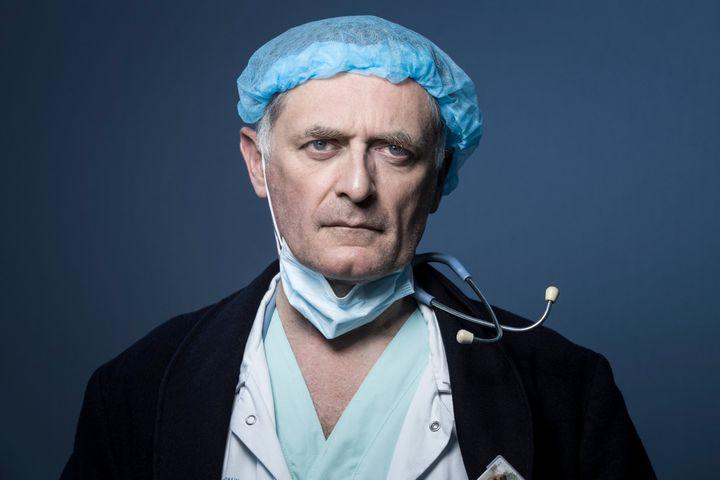 Philippe Juvin, chef du service des urgences de l'hôpital européenGeorges-Pompidou, le 3 avril 2020, à Paris. (JOEL SAGET / AFP)