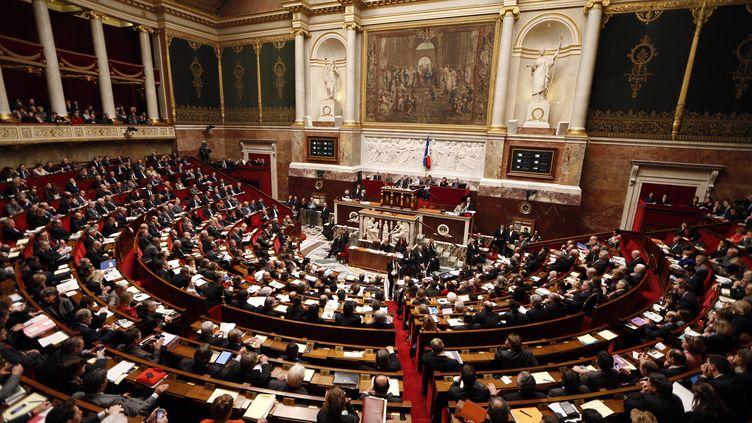 L'Assemblée nationale à Paris, le 29 janvier 2013, lors du débat sur le projet de loi sur le mariage pour tous. (CHARLES PLATIAU / REUTERS)