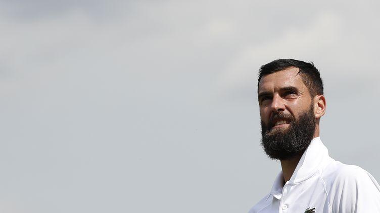 Benoît Paire, joueur de tennis français, à Winbledon (Grande-Bretagne), le 8 juillet 2019. (ADRIAN DENNIS / AFP)