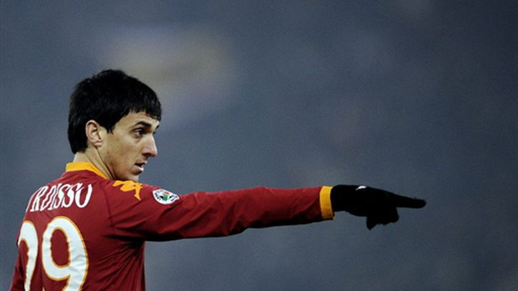 Le défenseur argentin de la Roma Nicolas Burdisso (FILIPPO MONTEFORTE / AFP)