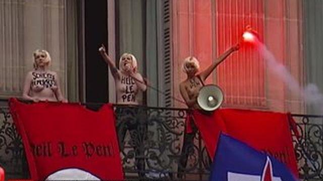 Les Femen s'invitent au défilé du FN