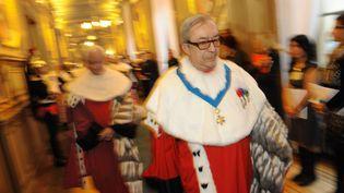 Le haut magistrat Gilbert Azibert lors de la séance inaugurale annuelle de la Cour de cassation, le 9 janvier 2012, à Paris. (WITT/SIPA)